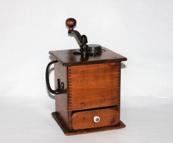 Antique 1905 Wooden Coffee Grinder Mill