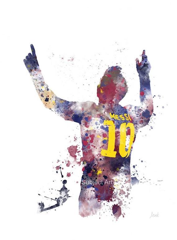 Soccer Wallpaper Messi Quotes Lionel Messi Art Print Illustration Barcelona Football