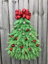 Christmas Tree Wreath Christmas Tree Wall Hanging Front Door