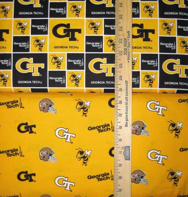 NCAA Georgia Tech Yellow Jackets College Logo Cotton Fabric by