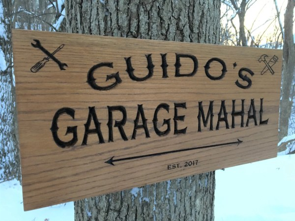 Grandpa' Workshop Garage Custom Wood Sign