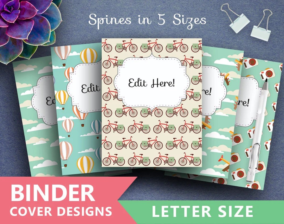 Binder Cover Printable VINTAGE TRAVEL Print