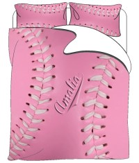 Items similar to Softball Personalized Bedding Set, Duvet ...