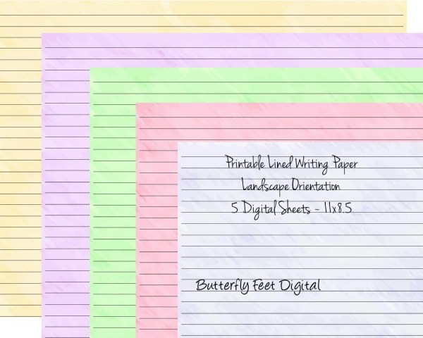 25+ Printable Landscape Lined Paper Journal Pictures and