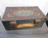 Antique steamer trunk, ca...