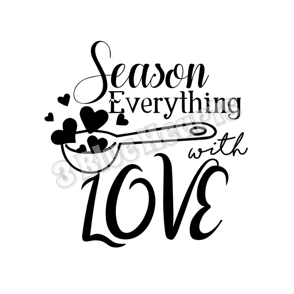 Season Everything with Love SVG dxf Studio Cutting Board SVG