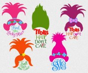 trolls svg troll hair