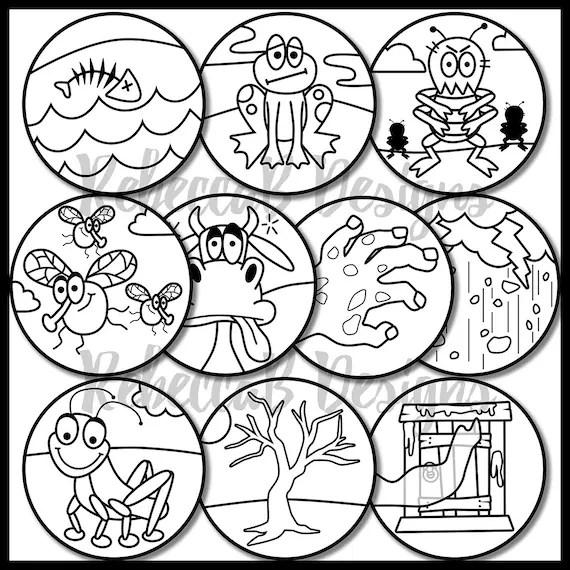 Ten Plagues of Egypt Clip Art (Moses), Ten Plagues Clip