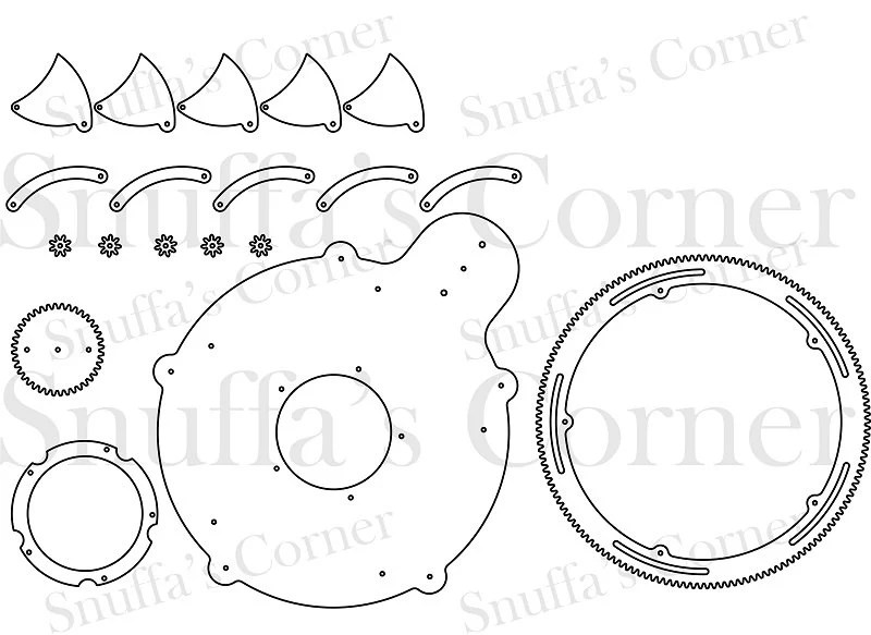 Mechanical Iris CAD File, Instant Download DXF, DWG