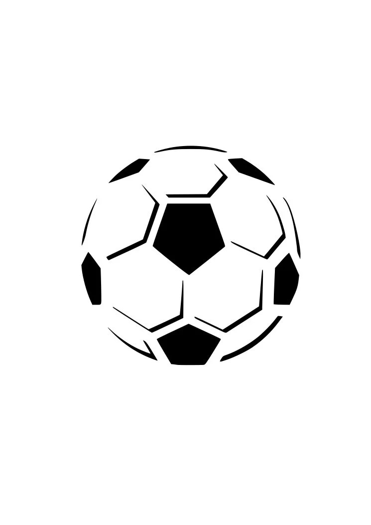 Soccer ball futball football outline laptop cup decal SVG