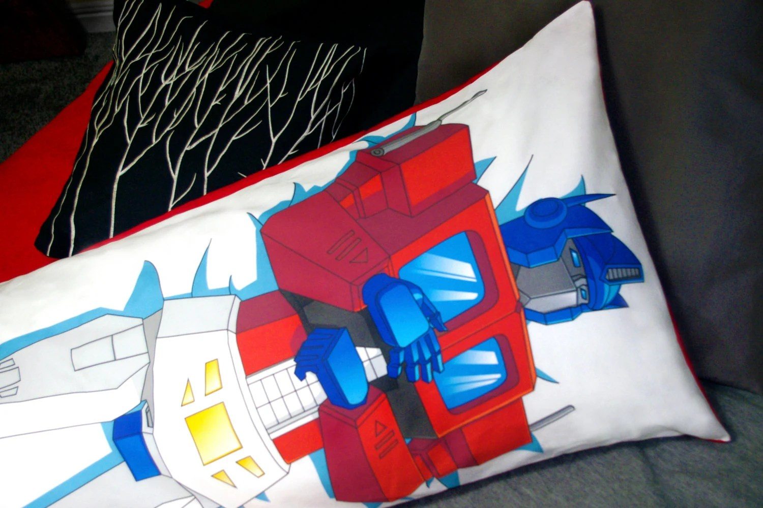 TF G1 Truck Stop Body Pillow Case