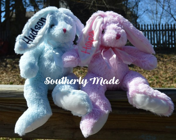 Personalized Easter Bunnies Plush Bunny