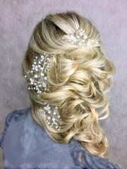 bridal hair pins set of 3 wedding