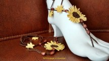 Beach Wedding Sunflower Barefoot Sandals Hippie Boho