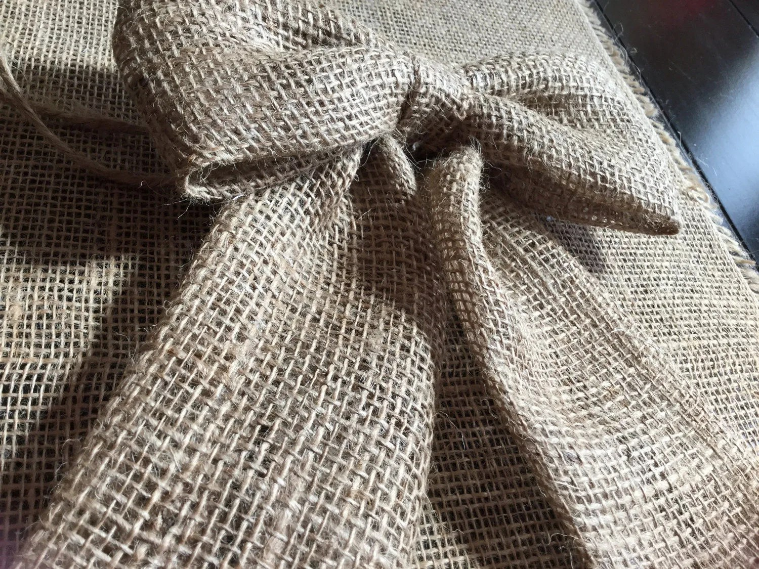 burlap chair sashes canada trailer hitch hammock pair 2 sweet 8 quot bows pew for rustic wedding