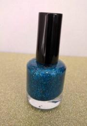 blue turquoise metallic glitter