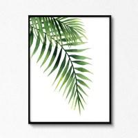 Palm Leaves Palm Leaf Watercolors Tropical Wall Art Leaf