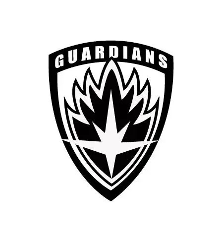 guardians of the galaxy badge car decal