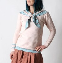 Light pink sweater Womens sweater with sailor scarf Womens