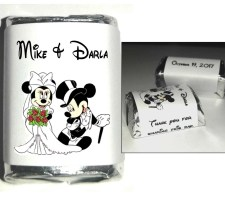 MICKEY and MINNIE Wedding Favor candy wrappers