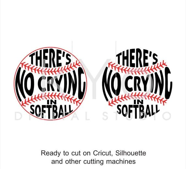 softball svg cut files