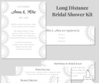 Virtual Bridal Shower Kit Long Distance Wedding Shower