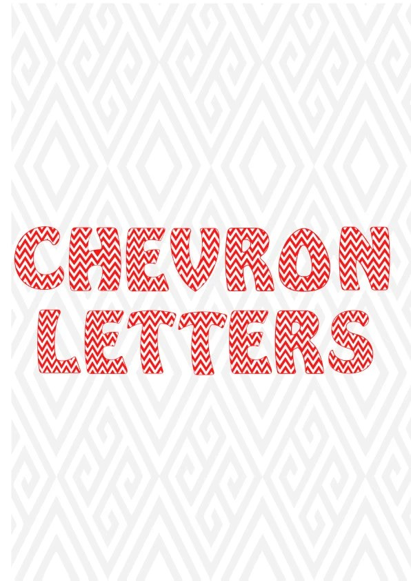 Checron Alphabet LettersFont Cuttable Design In SVG DXF