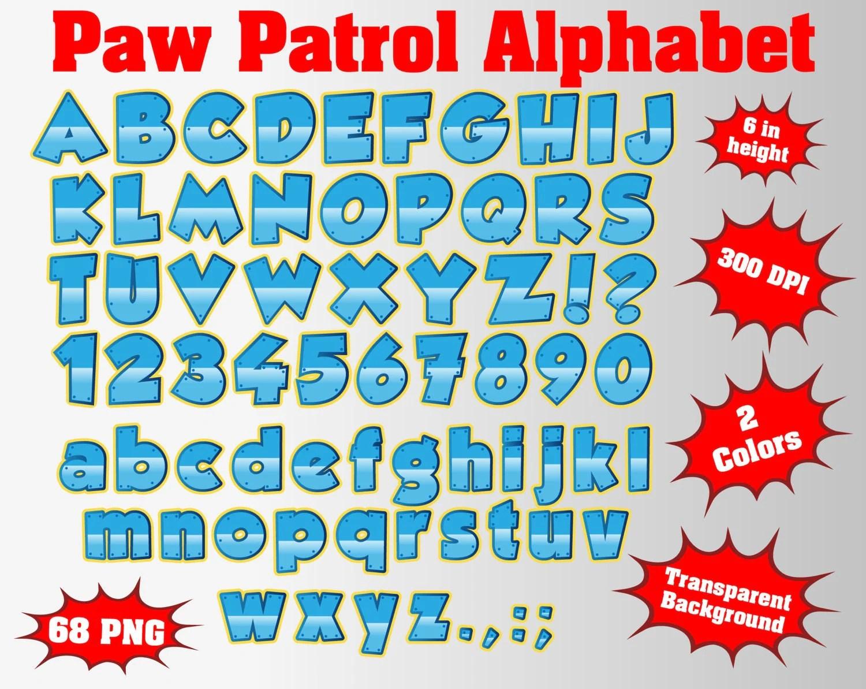 Paw Patrol Full Alphabet Numbers And Symbols