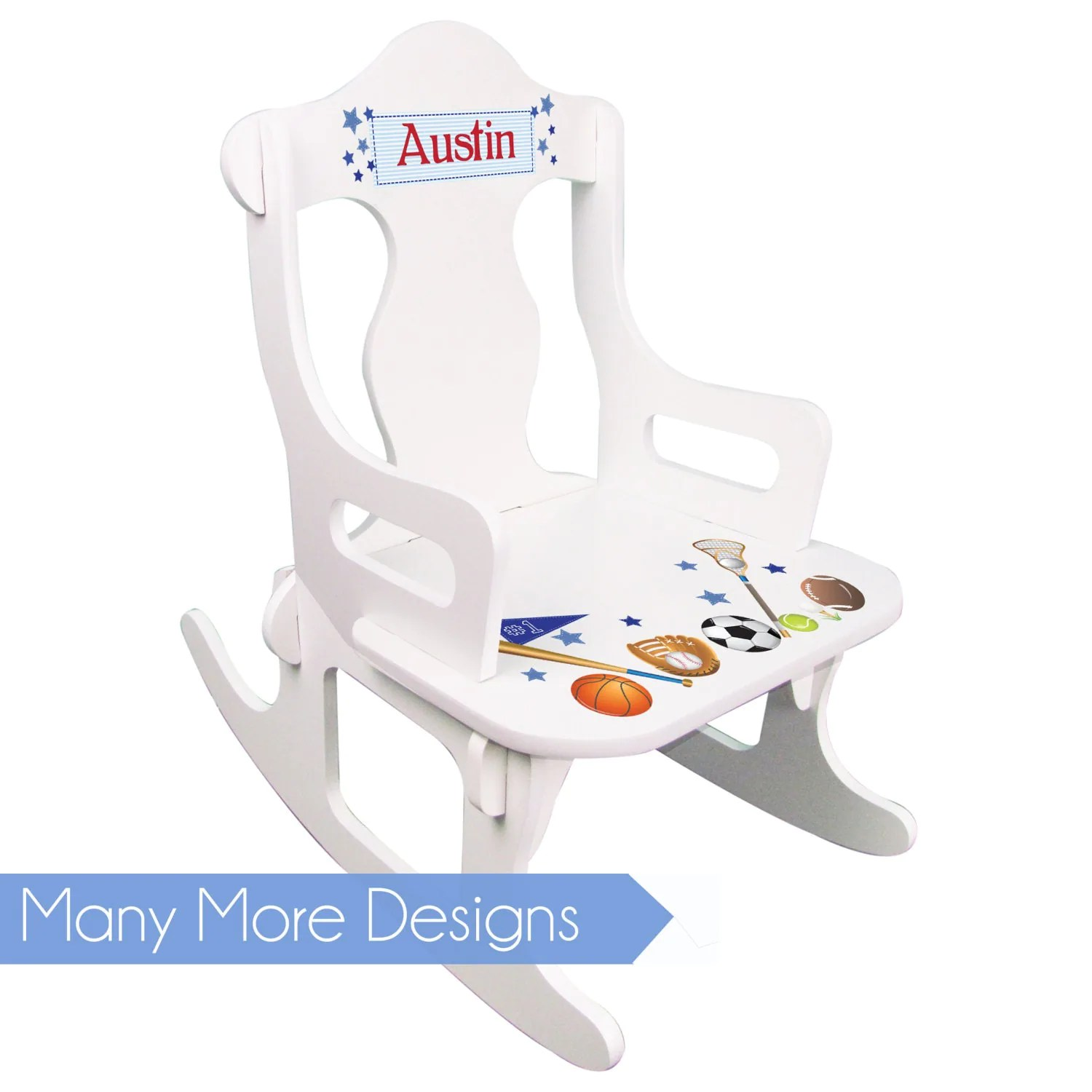 Toddler Boy Chair Personalized Toddler Rocking Chair Boys White Puzzle Rocker