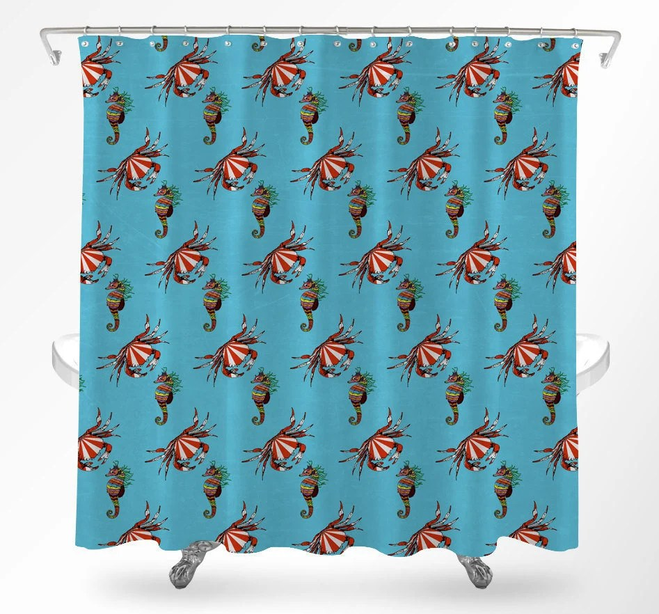 Sea Life Curtains Etsy
