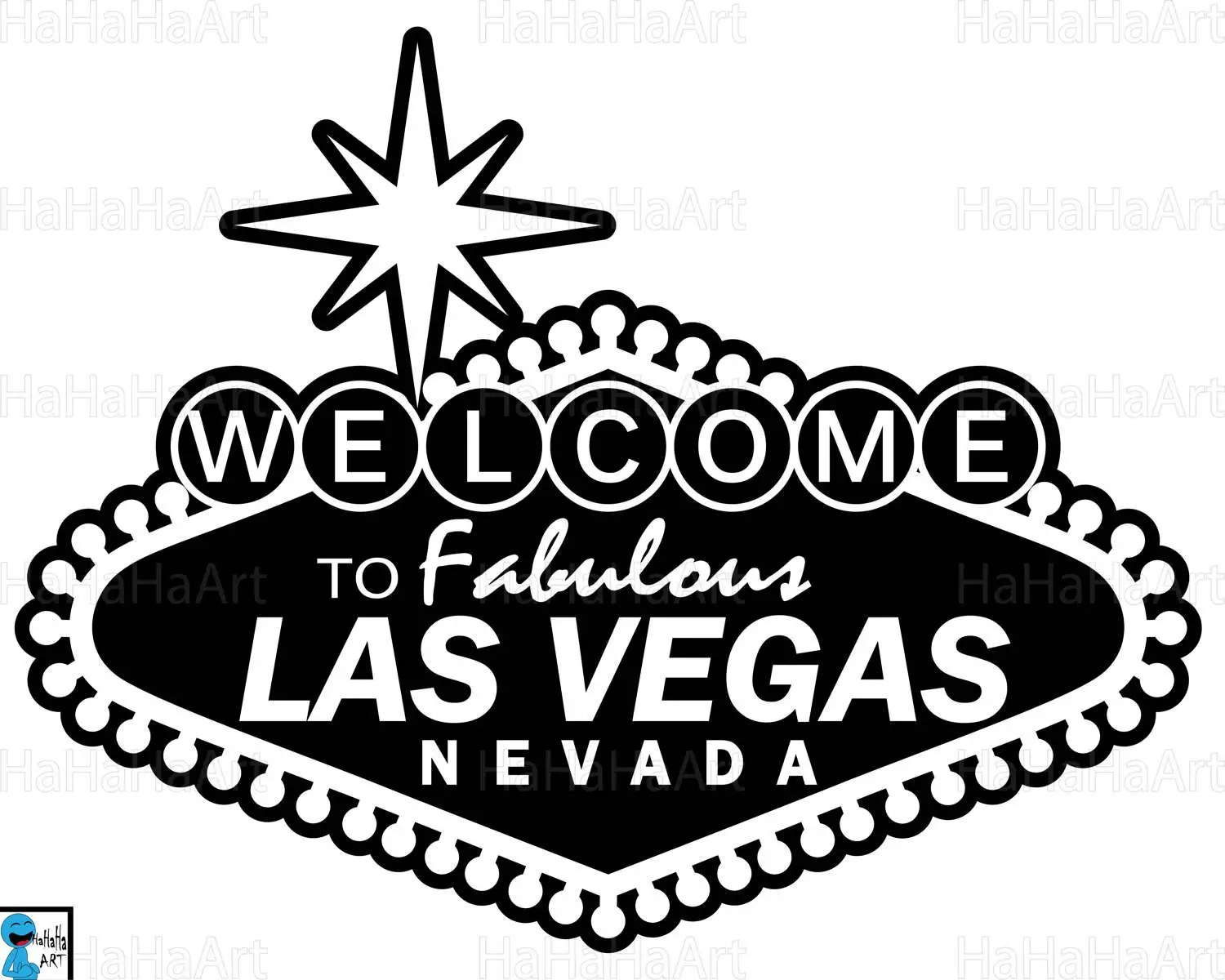 Las Vegas sign Clipart / Cutting Files Svg Png Jpg Dxf