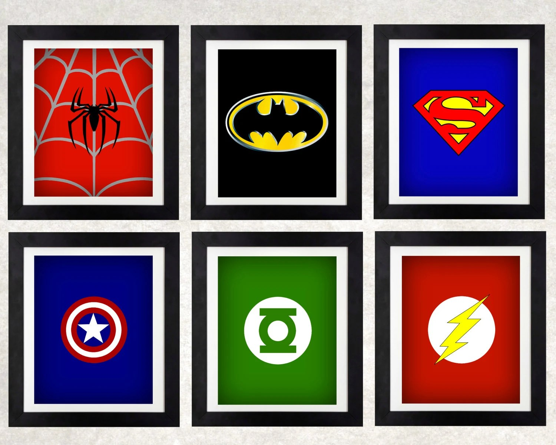 Superhero Art Printables Superhero Decor Boys Wall Art