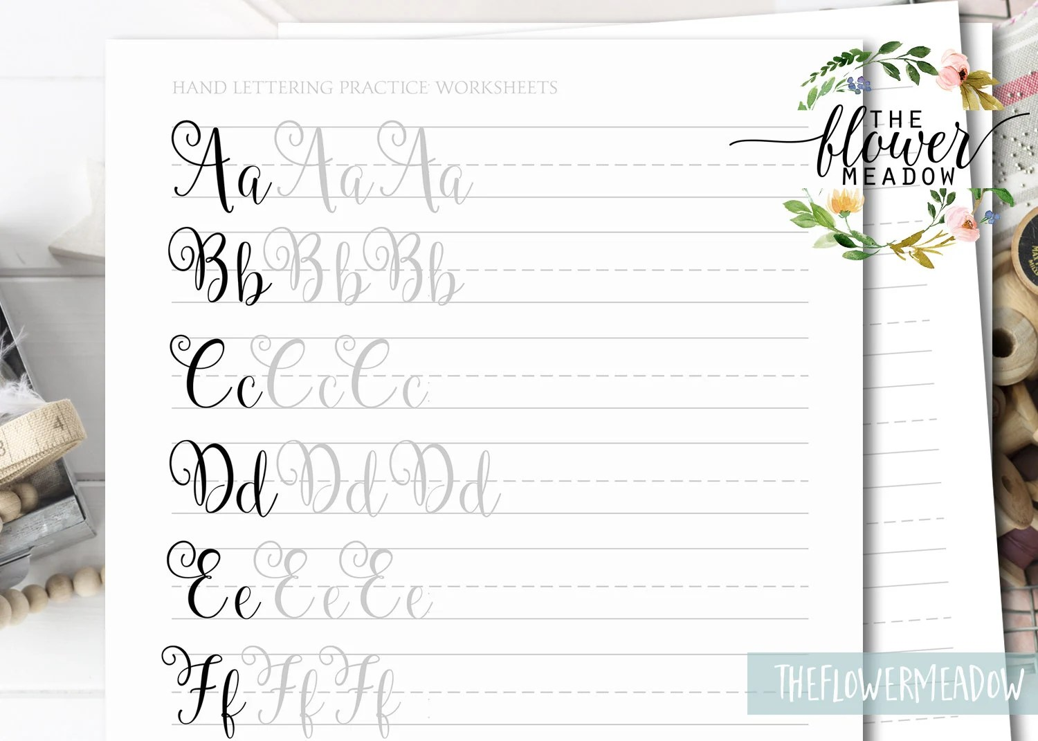 Learn Calligraphy Hand Lettering Guide Calligraphy Tutorial Modern Lettering Worksheets