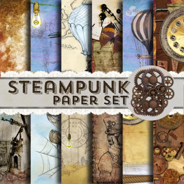 Steampunk Paper - Papers Steam Punk