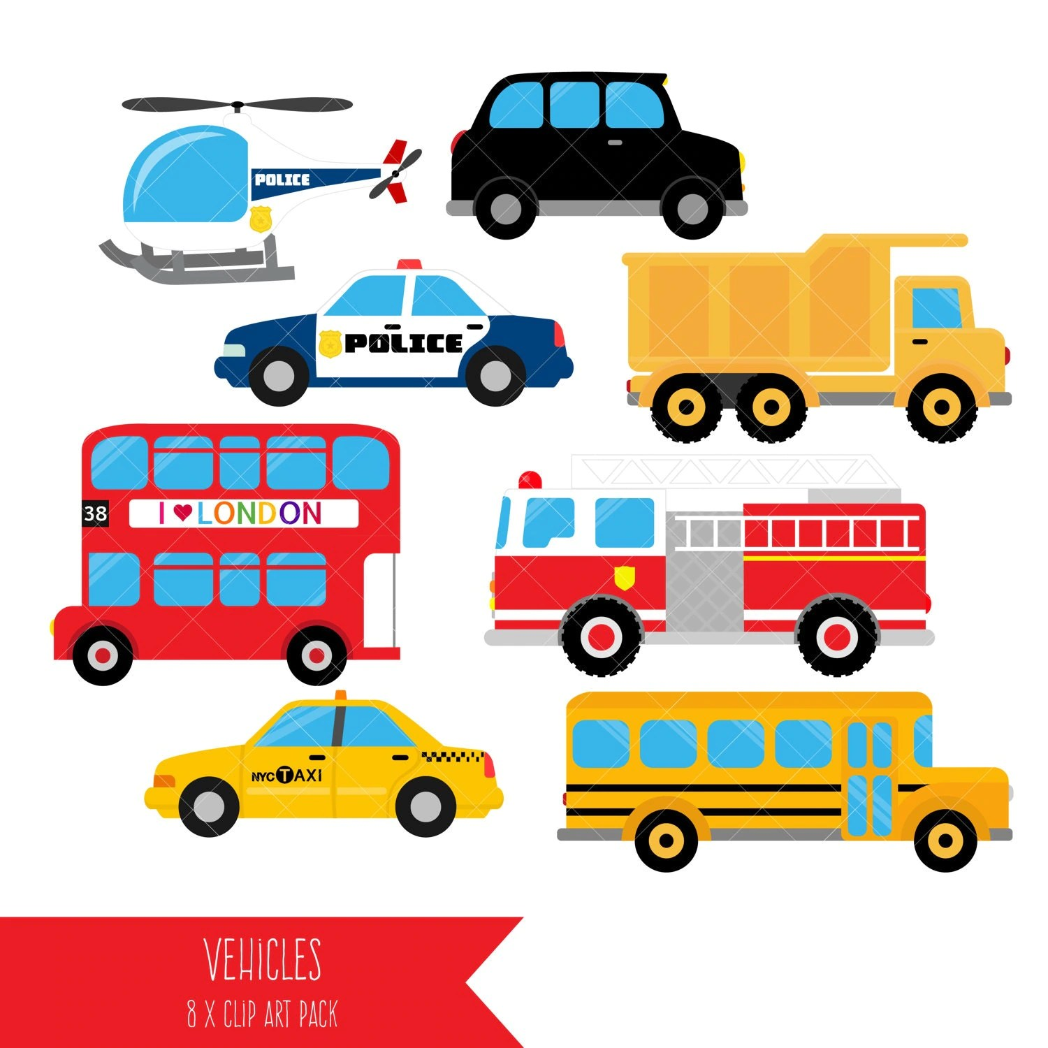 vehicle diagram clip art 2004 toyota corolla stereo wiring transportation clipart vehicles taxi bus fire