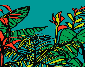 Tropical Garden print. Bo...