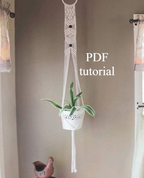 Macrame Plant Hanger Digital Download Macrame Tutorial