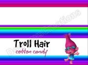 trolls troll hair cotton candy treat
