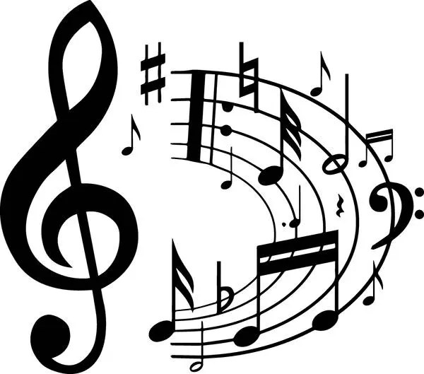 Sheet Music 1 Musical Note Symbol Treble Clef Classical .SVG