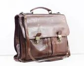 leather laptop bag, vinta...