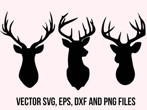 Download Deer Svg Clipart Deer head svg Deer dxf Cuttable deers