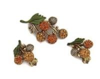 Gold acorn earrings | Etsy