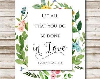 Download Bible verse art | Etsy