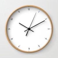 Simple Wall Clock White Modern Wall Clock by LambornStudio ...