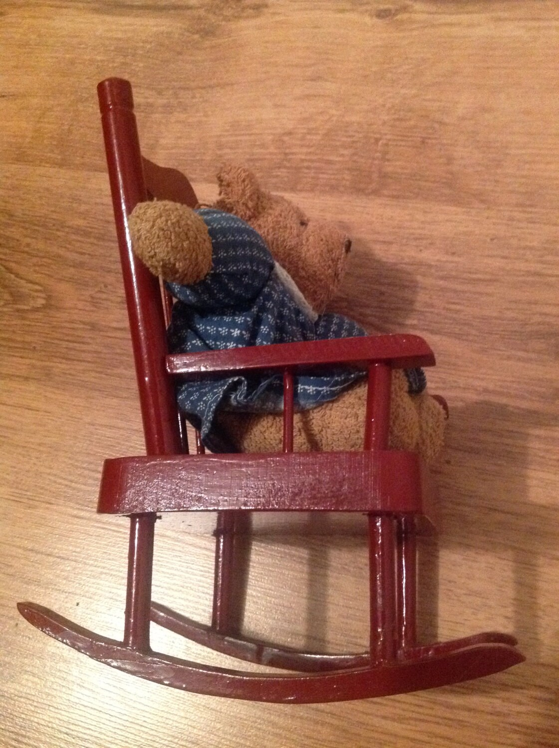 Red Rocking Chair Red Rocking Chair With Teddy Bear Christmas Gift Gift