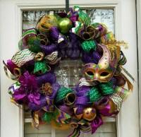 SALE/Mardi Gras Wreath/Mardi Gras Decoration/Wreath for