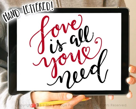Download Valentine SVG All You Need Is Love SVG Valentine Printable