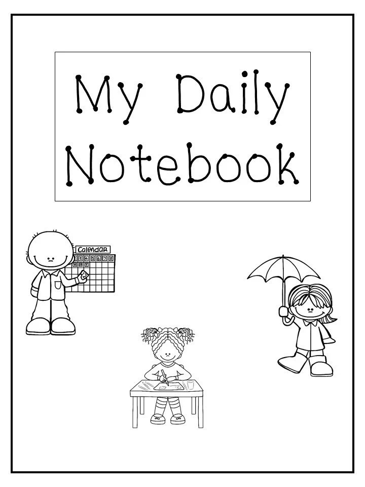 My Daily Notebook. Calendar Weather Tracking Write Your