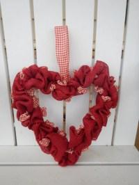 Valentine Heart Wreath Front Door Wreath Burlap Heart