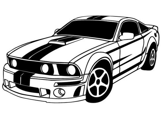 Ford Mustang cool car garage sticker vinyl decal wall art 128